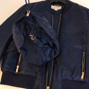 MK satin bomber jacket
